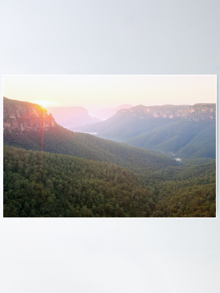 Alternate view of Govetts Leap, Blue Mountains, Australia Poster