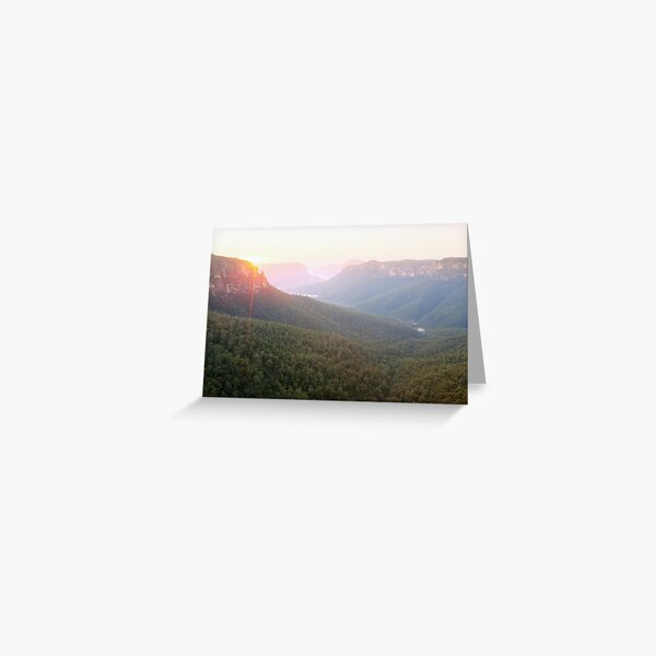 Govetts Leap, Blue Mountains, Australia Greeting Card