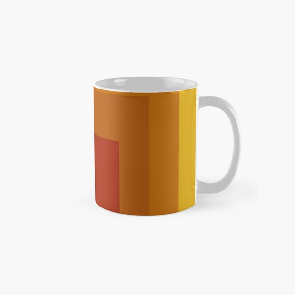 Block Colors - Yellow Orange Red Classic Mug