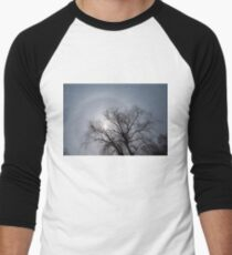Sun Halo, Trees And Silver Gray Winter Sky T-Shirt