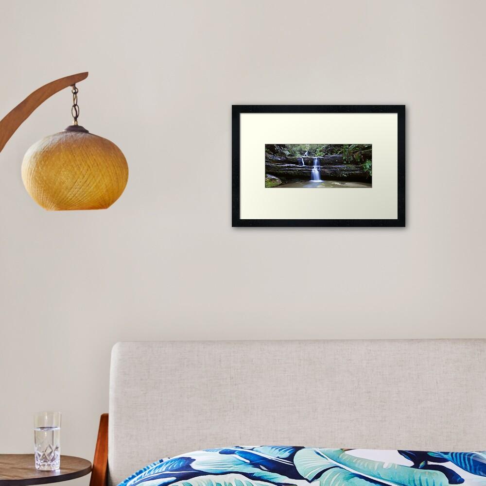 Terrance Falls, Blue Mountains, Australia Framed Art Print
