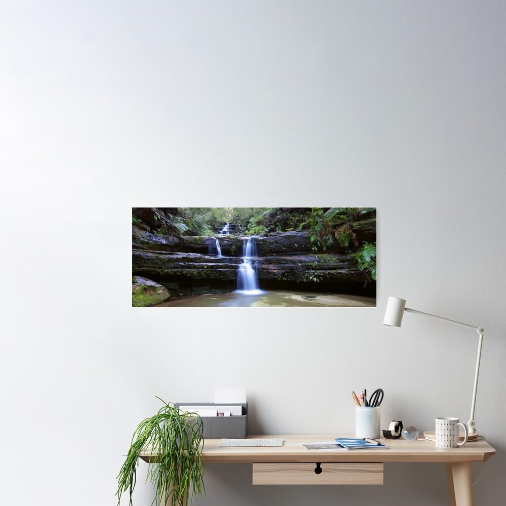 Terrance Falls, Blue Mountains, Australia Poster