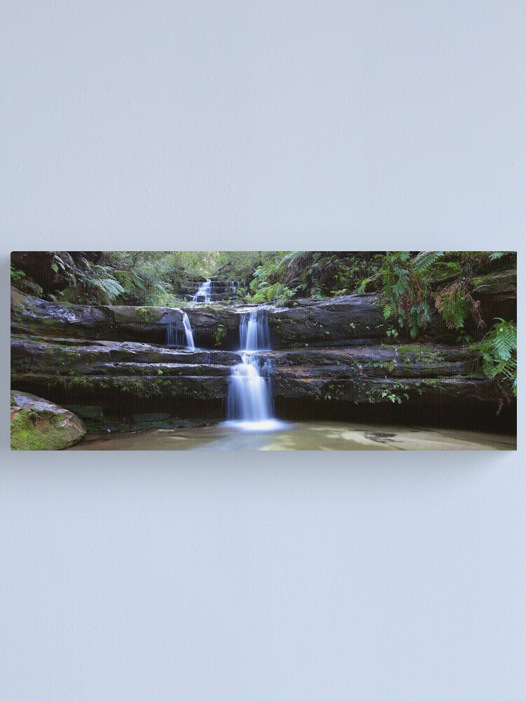 Alternate view of Terrance Falls, Blue Mountains, Australia Canvas Print