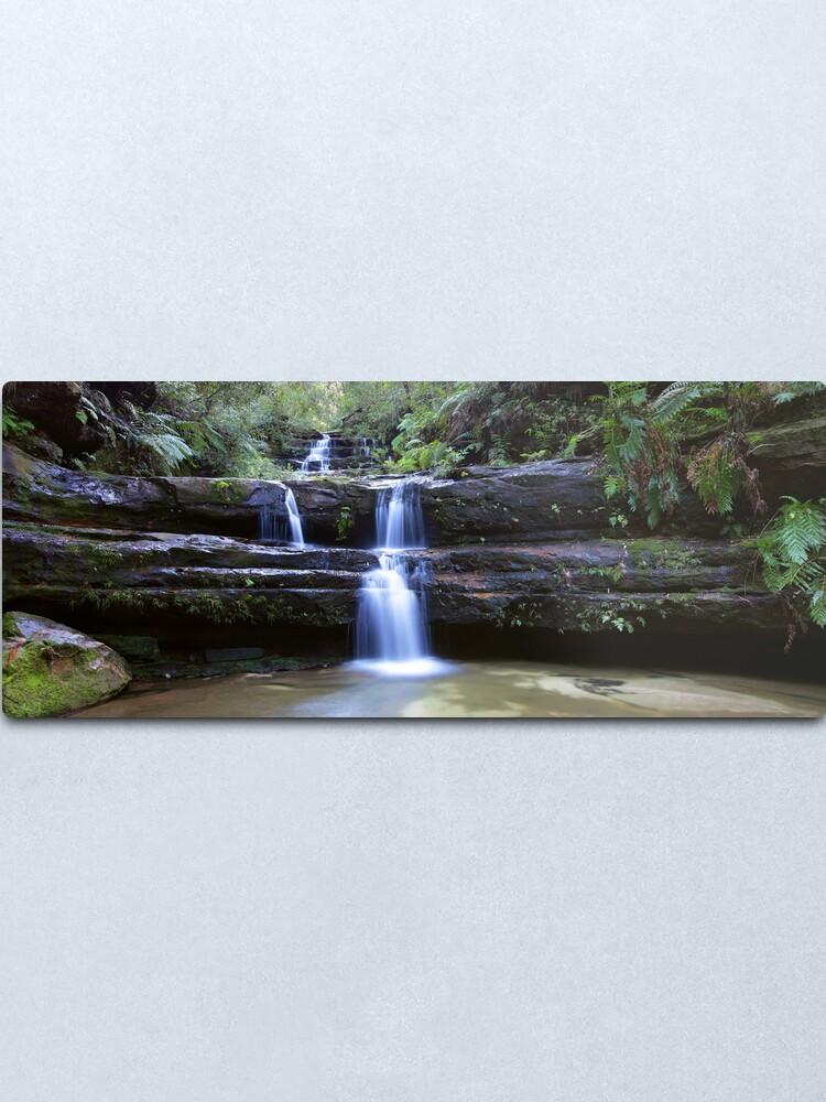 Alternate view of Terrance Falls, Blue Mountains, Australia Metal Print