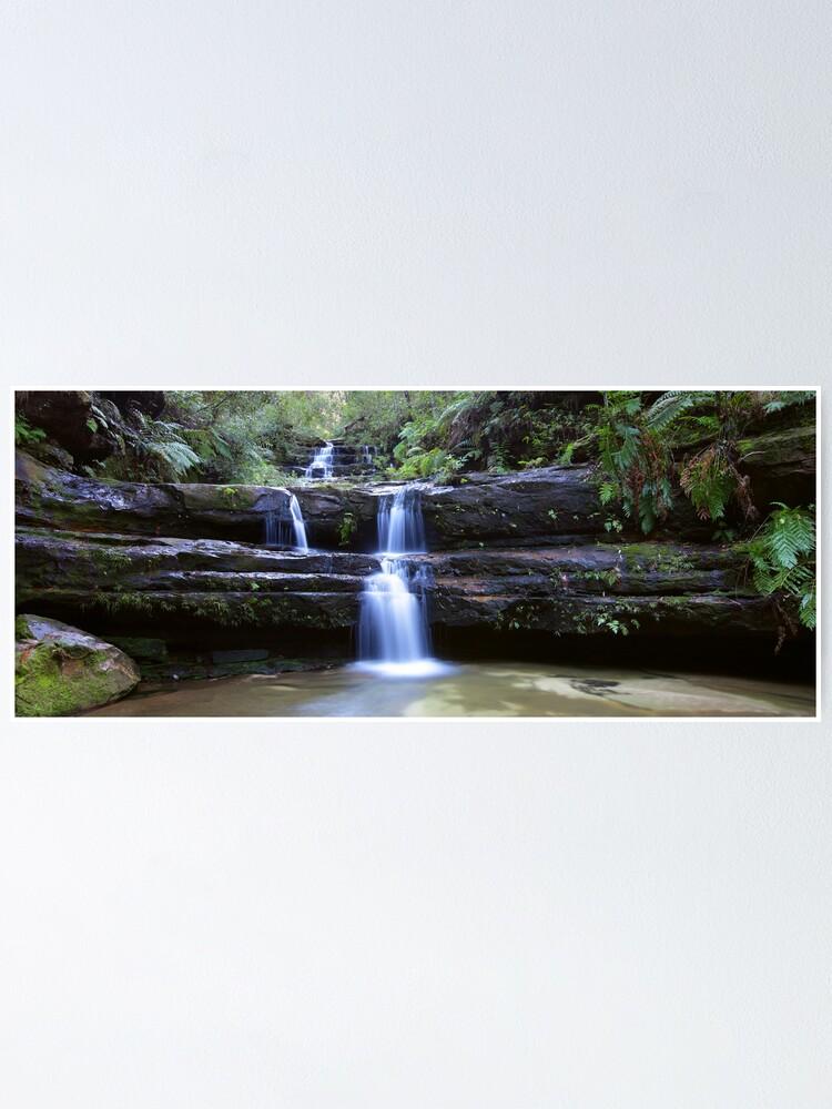 Alternate view of Terrance Falls, Blue Mountains, Australia Poster