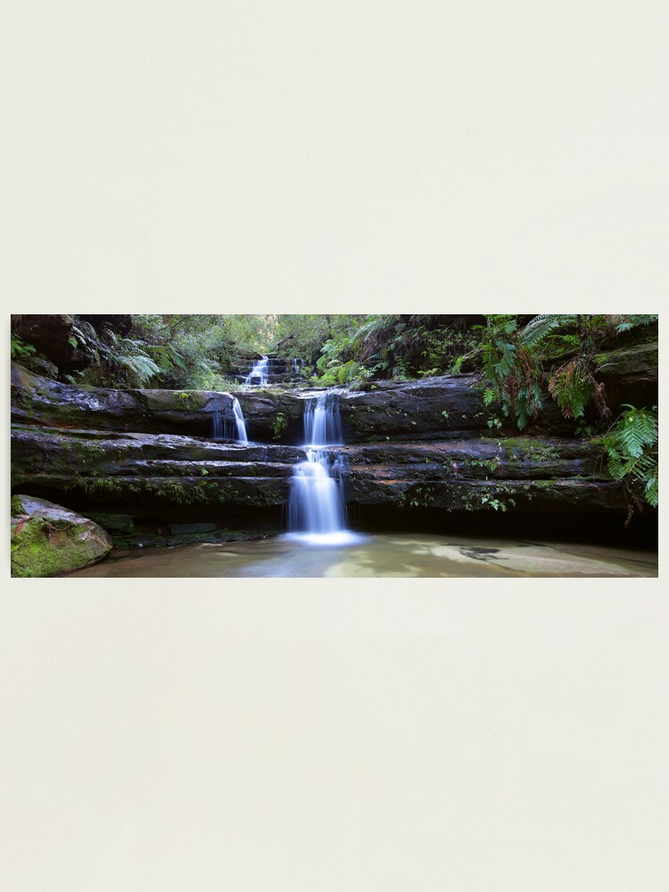 Alternate view of Terrance Falls, Blue Mountains, Australia Photographic Print