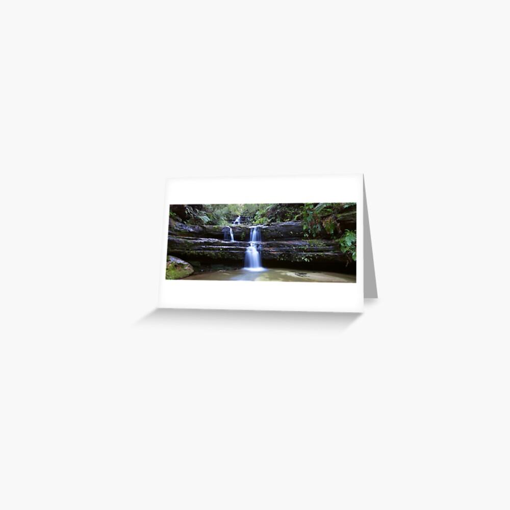 Terrance Falls, Blue Mountains, Australia Greeting Card