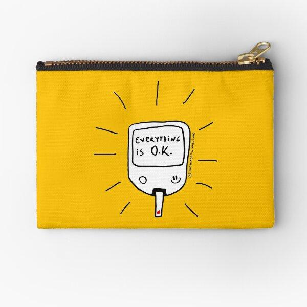 Diabetes: Everything is O.K. Diabetes Zipper Pouch