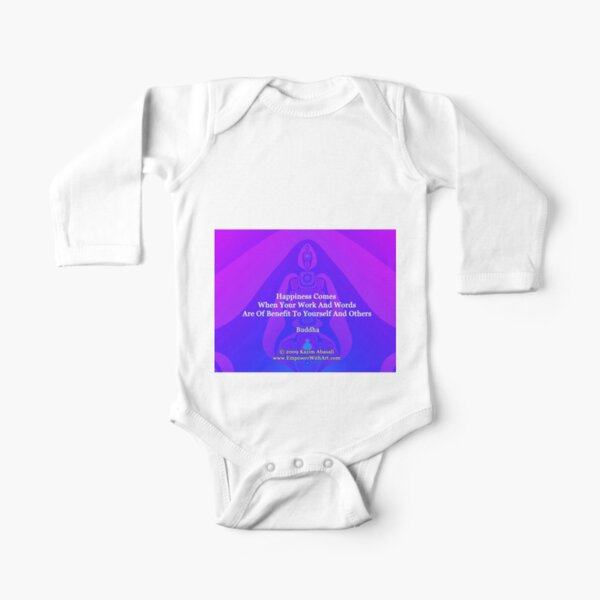 Happiness Comes Long Sleeve Baby One-Piece