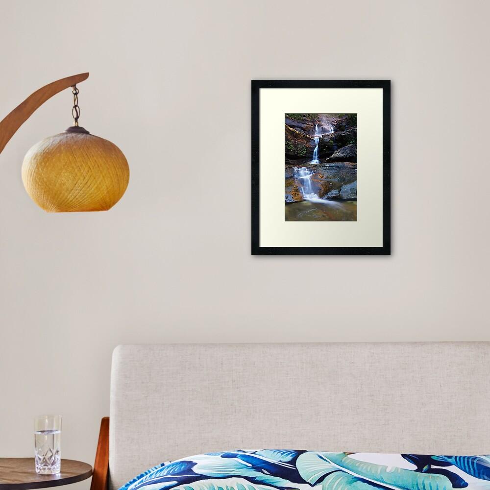 Upper Wentworth Falls, Blue Mountains, Australia Framed Art Print
