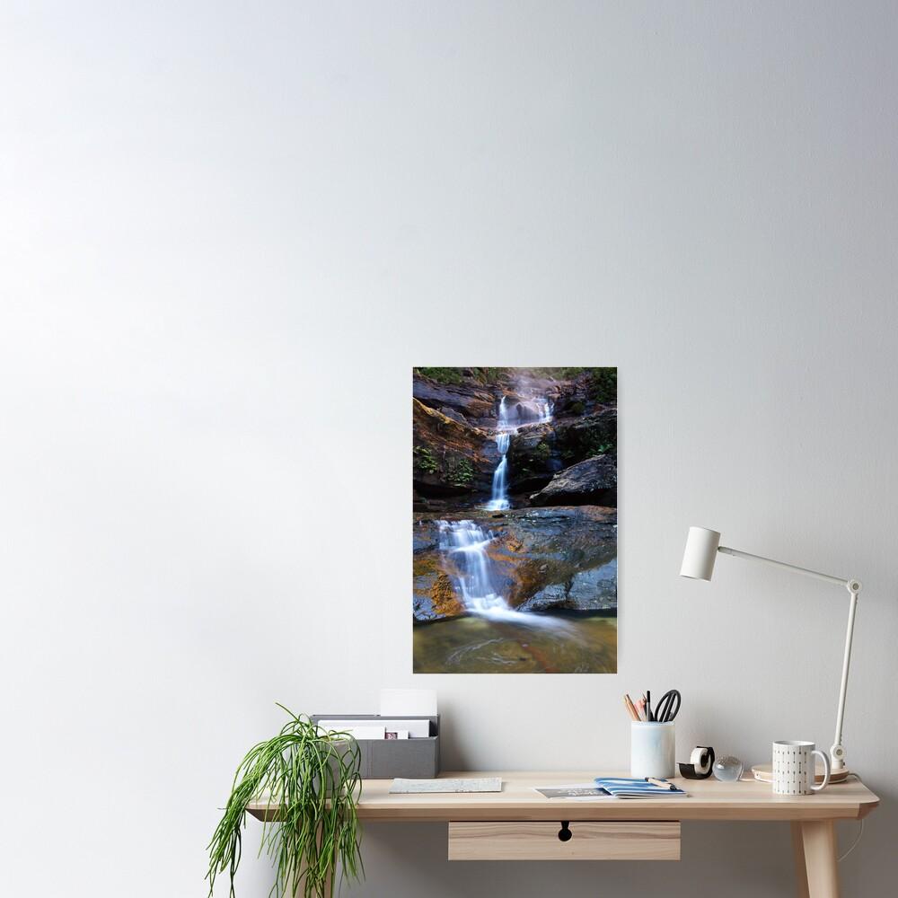 Upper Wentworth Falls, Blue Mountains, Australia Poster
