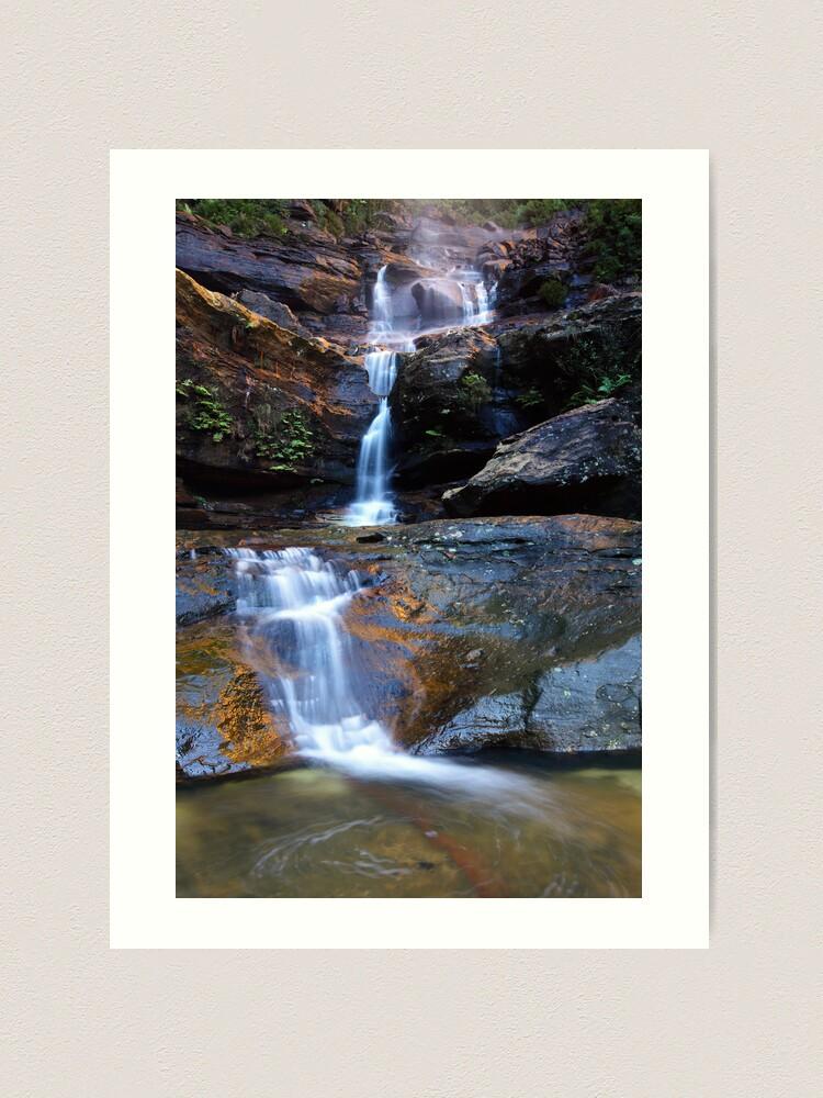 Alternate view of Upper Wentworth Falls, Blue Mountains, Australia Art Print