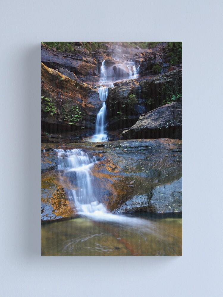 Alternate view of Upper Wentworth Falls, Blue Mountains, Australia Canvas Print
