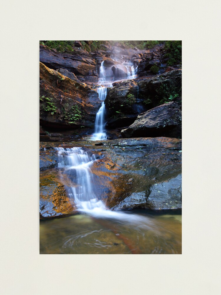 Alternate view of Upper Wentworth Falls, Blue Mountains, Australia Photographic Print
