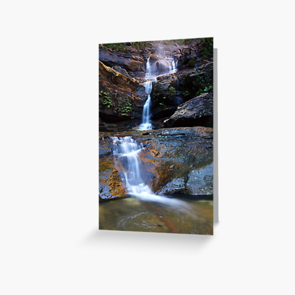Upper Wentworth Falls, Blue Mountains, Australia Greeting Card
