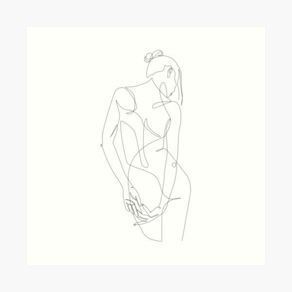 ligature - one line art Art Print