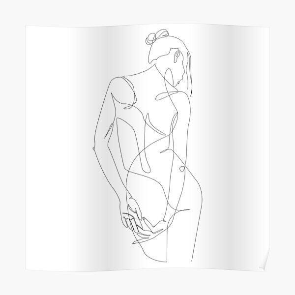ligature - one line art Poster