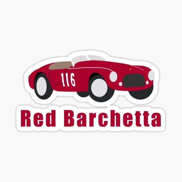 Red Barchetta Sticker