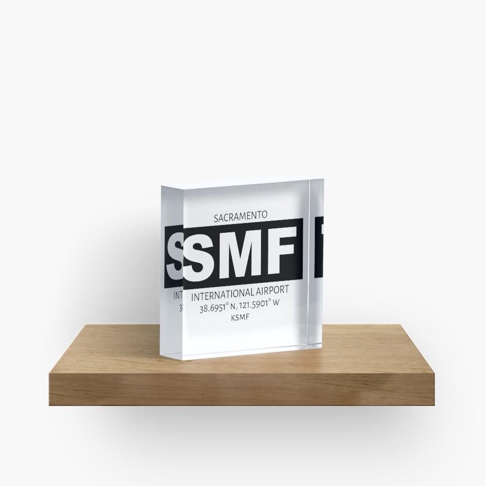Sacramento International Airport SMF Acrylic Block