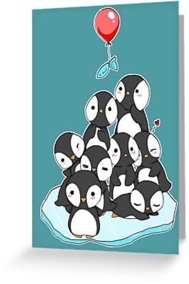 Penguin mountain by linkitty
