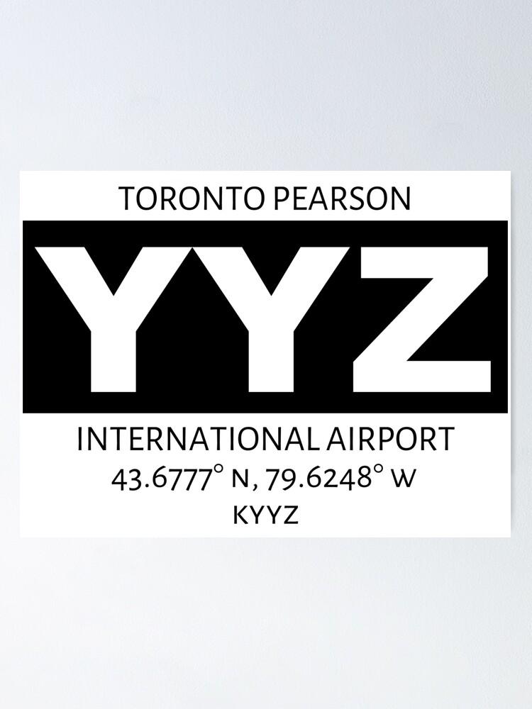 Alternate view of Toronto Pearson International Airport YYZ Poster