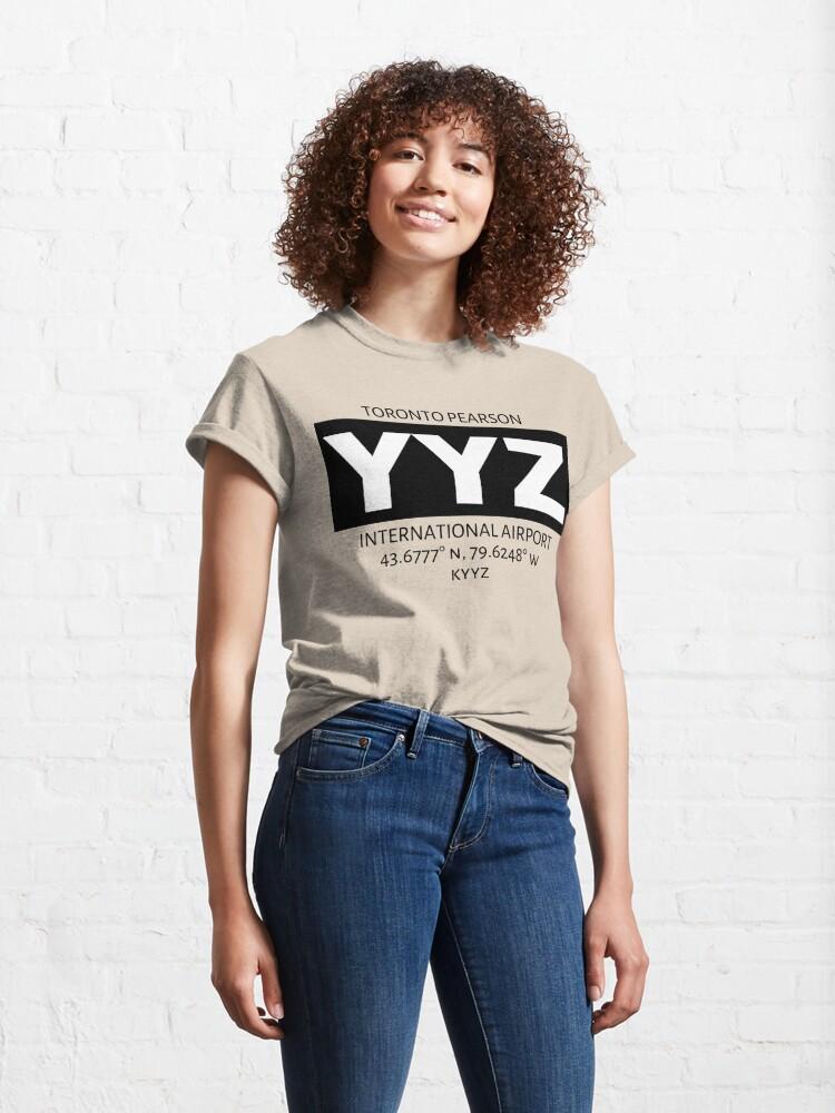 Alternate view of Toronto Pearson International Airport YYZ Classic T-Shirt