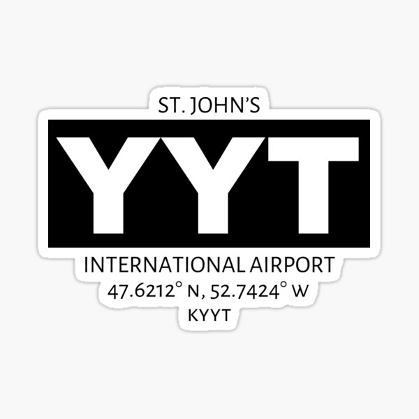 St. John's International Airport YYT Sticker