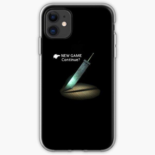 FF7 menu new game iPhone Soft Case