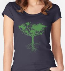 Earth Tree Classic Tailliertes Rundhals-Shirt