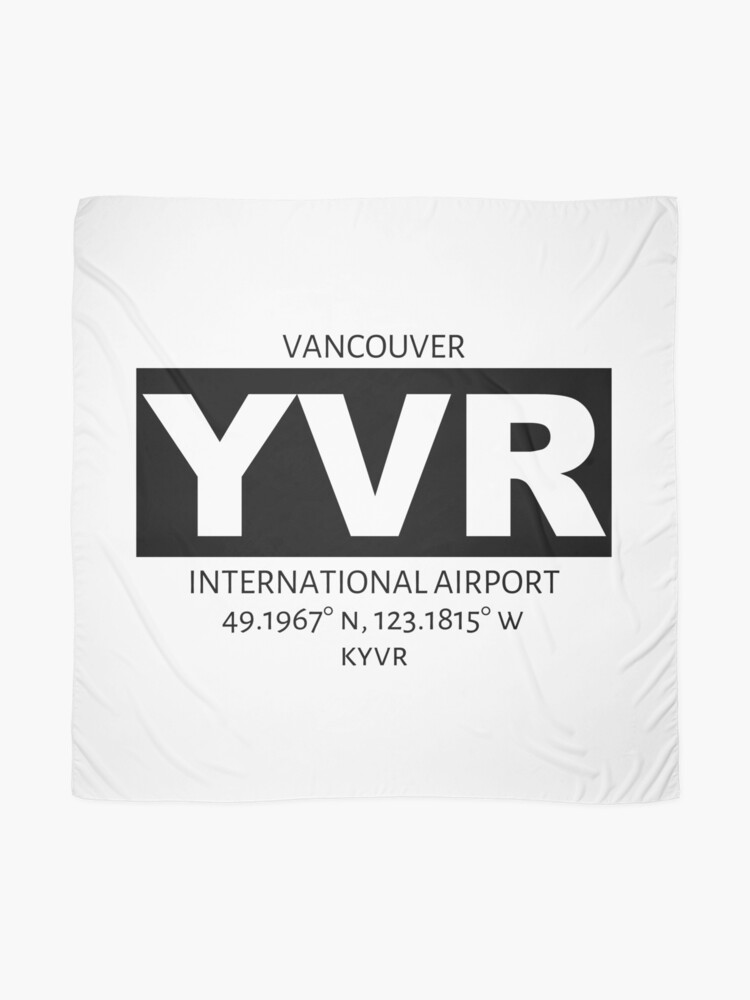 Alternate view of Vancouver International Airport YVR Scarf
