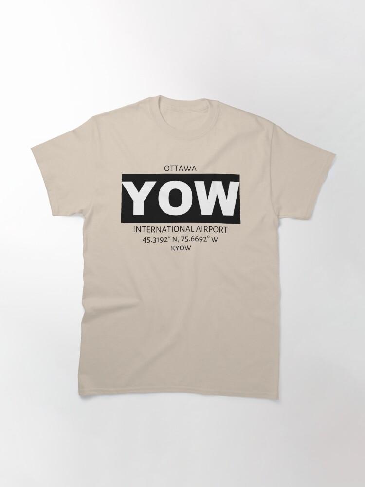 Alternate view of Ottawa International Airport YOW Classic T-Shirt
