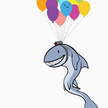Happy Balloon Says Go Shark Go! by Shiuk