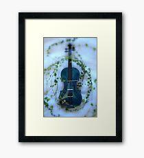 il violino blu con edera © 2010 patricia vannucci Framed Print
