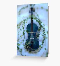 il violino blu con edera © 2010 patricia vannucci Greeting Card