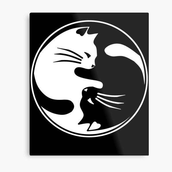 Yin Yang cats Metal Print