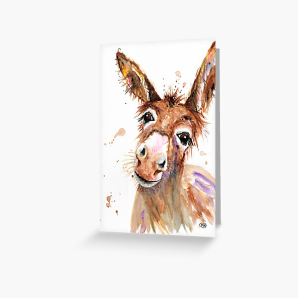 Cute Donkey face Greeting Card