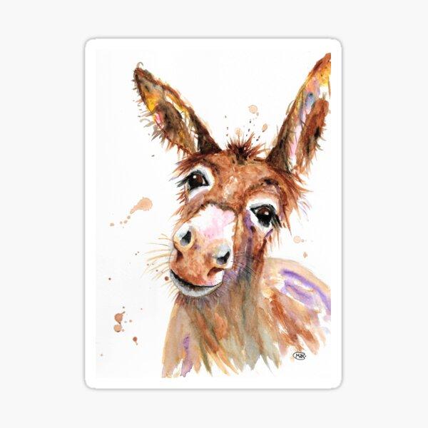 Cute Donkey face Sticker