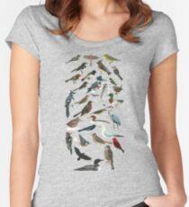 Vogelfanatiker Tailliertes Rundhals-Shirt