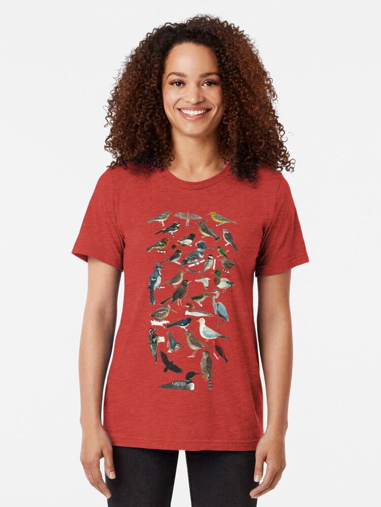 Alternate view of Bird Fanatic Tri-blend T-Shirt
