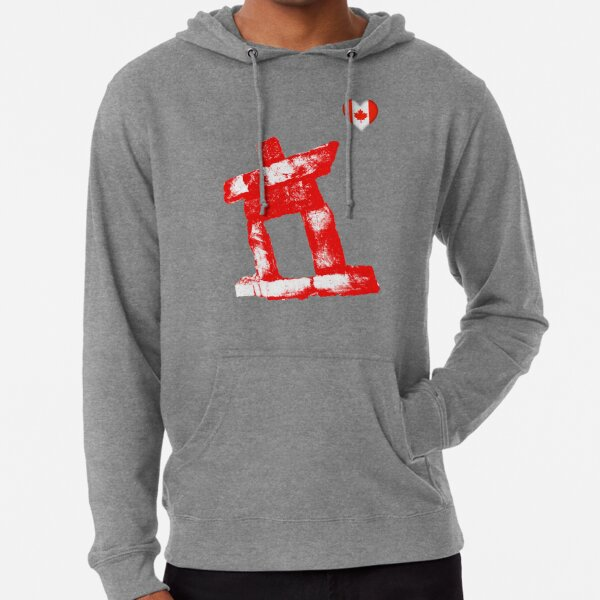 I love Canada rock man -RED- Lightweight Hoodie