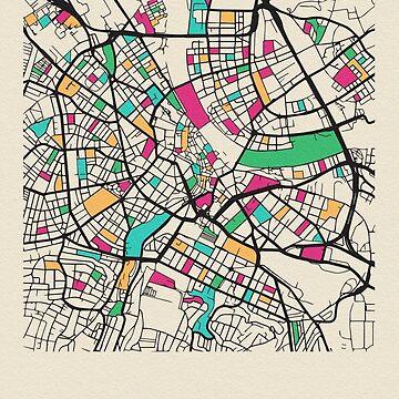 Mapa de calles de Basel, Suiza de geekmywall