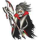 Traditional Axe Reaper Tattoo Design by FOREVER TRUE TATTOO