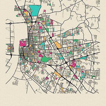 Baton Rouge, Louisiana Mapa Callejero de geekmywall