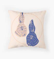 Rabbitybabbity Throw Pillow