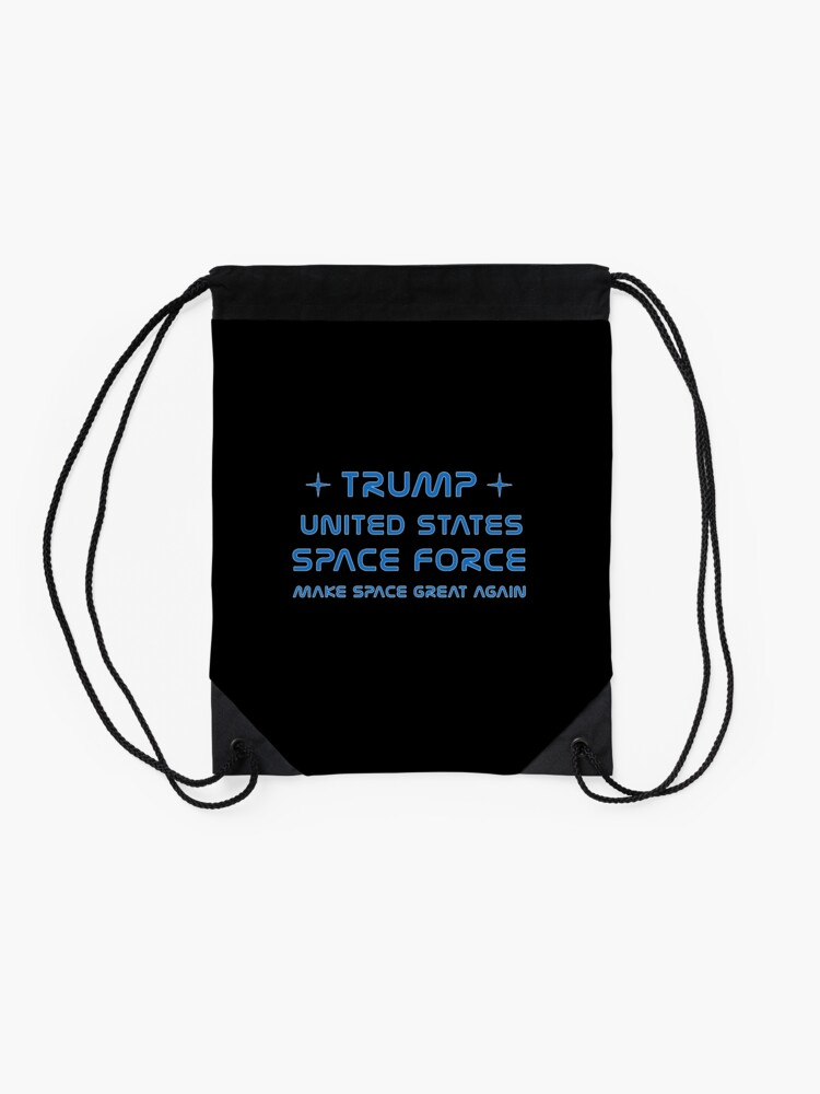 Alternate view of Trump, United States Space Force, USSF. Drawstring Bag