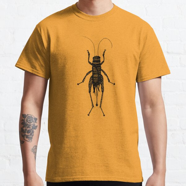 Patterned Cricket Insect Print Classic T-Shirt