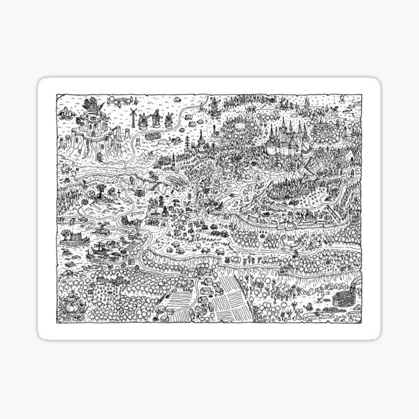 Castle Map Sticker
