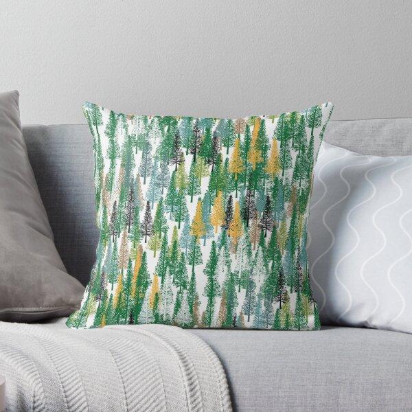 Cook Pine Forest Green Throw Pillow