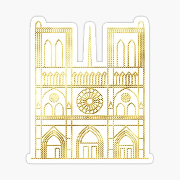 Remembering Notre Dame Sticker