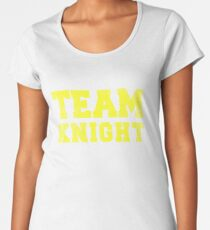 Camiseta premium para mujer Team Knight, Yellow,